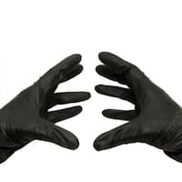 Black Nitrile Disposable Powder-free Large Gloves Latex Free 10000 Pieces 3.5 Mil