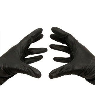 Black Nitrile Disposable Powder-free Xlarge Glove Latex Free 100 Per Box 3.5 Mil