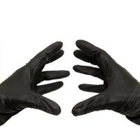 200 Nitrile Disposable Gloves Powder and Latex Free Industrial Xxlarge Black 3.5 Mil