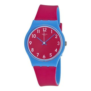 Swatch Unisex GS145 'Originals Lampone' Pink Silicone Watch