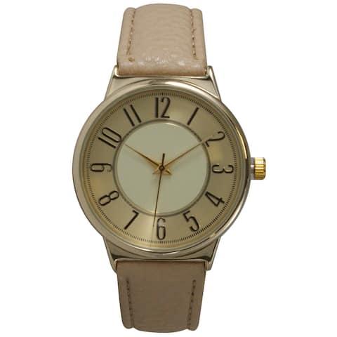 Olivia Pratt Vintage Style Women's Faux Leather Watch