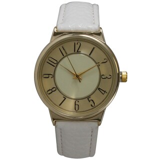 Olivia Pratt Vintage Style Women's Faux Leather Watch