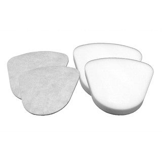 Replacement 2 Foam & 2 Felt Filters, Fits Shark NV350 Navigator Lift-Away Series, Compatible with Part XFF350 & XFF350NZ