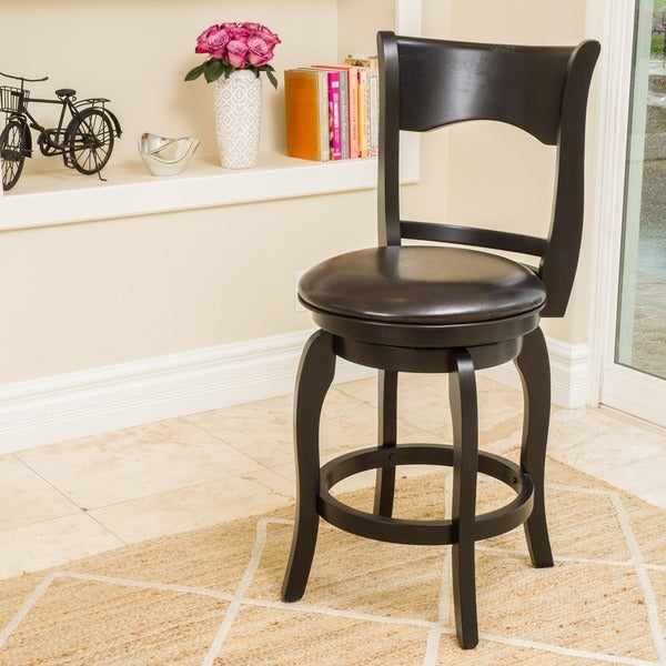 Shop Kolton 25 Inch Bonded Leather Swivel Counter Stool By