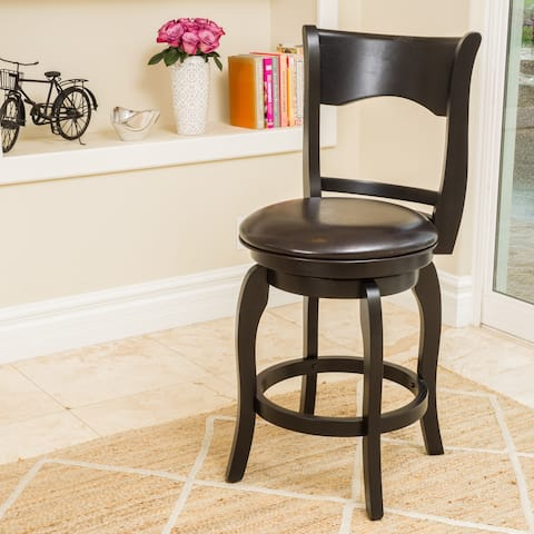 Kolton 25-inch Bonded Leather Swivel Counter Stool by Christopher Knight Home