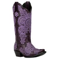 Black Star MEDINA (Purple) Women's Cowboy Boots