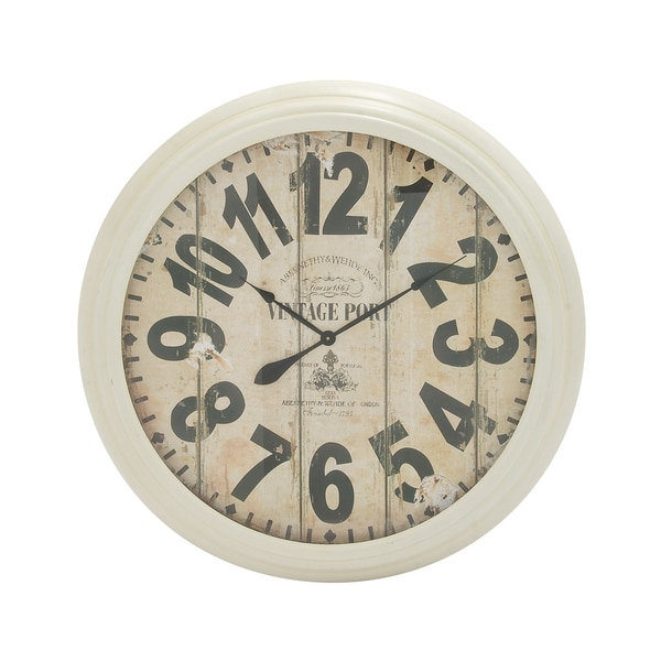 Round Rustic Wall Clock