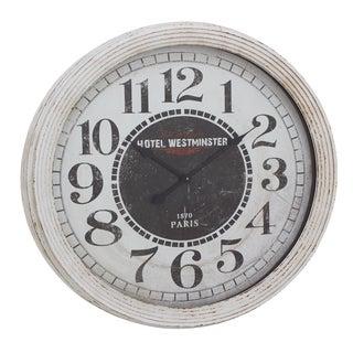 Silver Framing Wall Clock