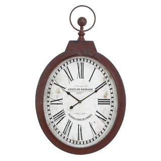 Oval Industrial Clock