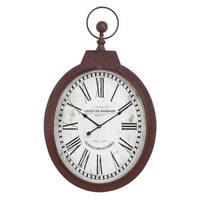 Oval Industrial Clock