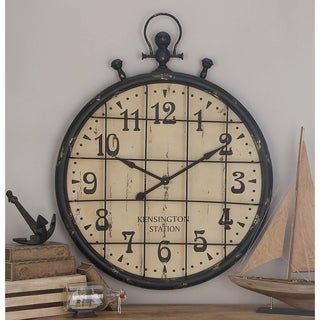 Large Industrial Metal Clock
