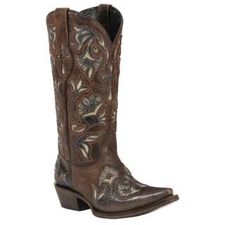 Black Star Trinity Rust Women's Leather Cowboy Boots