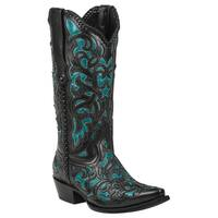 Black Star WEBB (Turquoise) Women's Cowboy Boots
