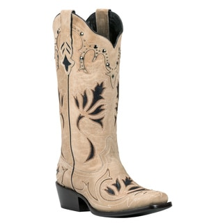 Black Star Leather Nueces Bone Boot