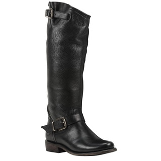Black Star Virgo Black Women's Leather Fashion Western Boots