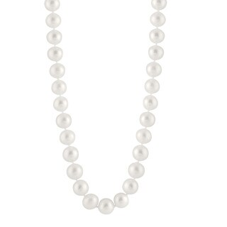 Freshwater Pearl Necklace (11 mm) (Option: Black)
