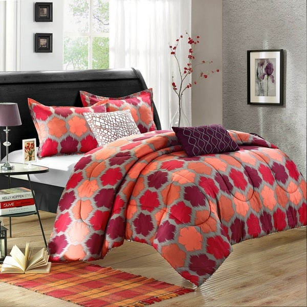 Chic Home Theo 5-Piece Luxury Reversible Comforter Set
