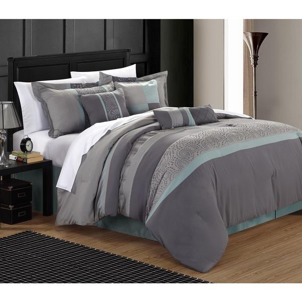 Shop Chic Home Euphrasia 12 Piece Bed In A Bag Comforter
