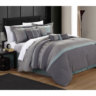 Chic Home Euphrasia 12-piece Bed-in-a-Bag Comforter Set