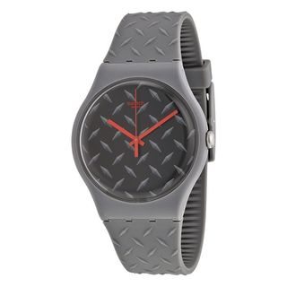 Swatch Unisex SUOM102 'Originals Text-Ure' Grey Silicone Watch