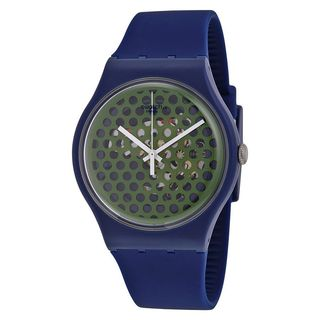 Swatch Unisex SUON113 'Originals Buchetti' Blue Silicone Watch