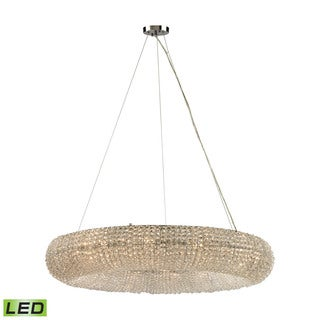 Elk Crystal Ring 12-light LED Chandelier in Polished Chrome