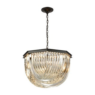 Elk Optalique 7-light LED Chandelier in Oil Rubbed Bronze