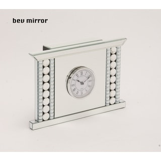 Beveled Mirror Clock 2-inch x 14-inch