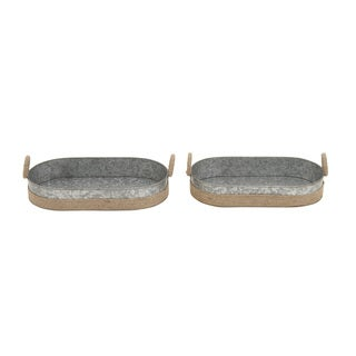 Metal Rope Tray 18-inch x 19-inch (Set of 2)