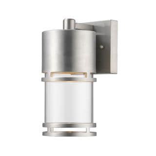 Z-Lite Luminata Outdoor LED Wall Light in Brushed Aluminum
