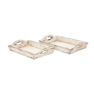 Weathered Wood Tray (Set of 2)