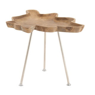 Abstract Wood Tray Side Table