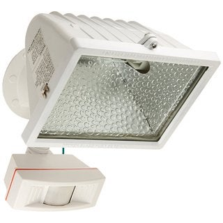 Nuvo Lighting Halogen Floodlight with Motion Sensor White Large