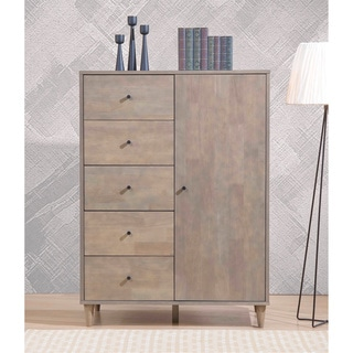 I Love Living Mallory Light Charcoal Grey Armoire