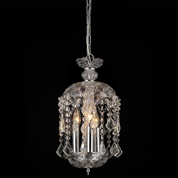Karla 3 light clear glass 11 inch crystal chandelier free shipping karla 3 light clear glass 11 inch crystal chandelier aloadofball Choice Image