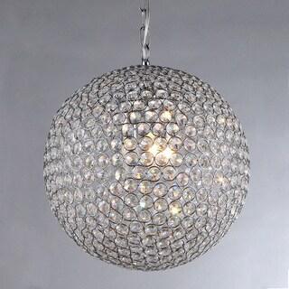 Jasmine 2-light Round Crystal 10-inch Chrome Chandelier