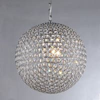 Jasmine 2-light Round Crystal 10-inch Chrome Chandelier