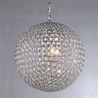 Ginny 4-light Crystal 16-inch Chrome-finish Chandelier