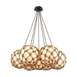 Elk Coastal Inlet 7-light LED Chandelier in Oil Rubbed Bronze