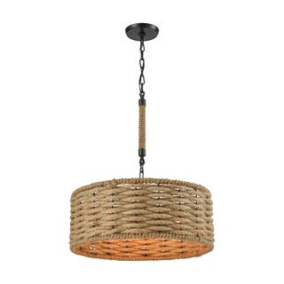 Elk Weaverton 3-light LED Chandelier in Oil Rubbed Bronze