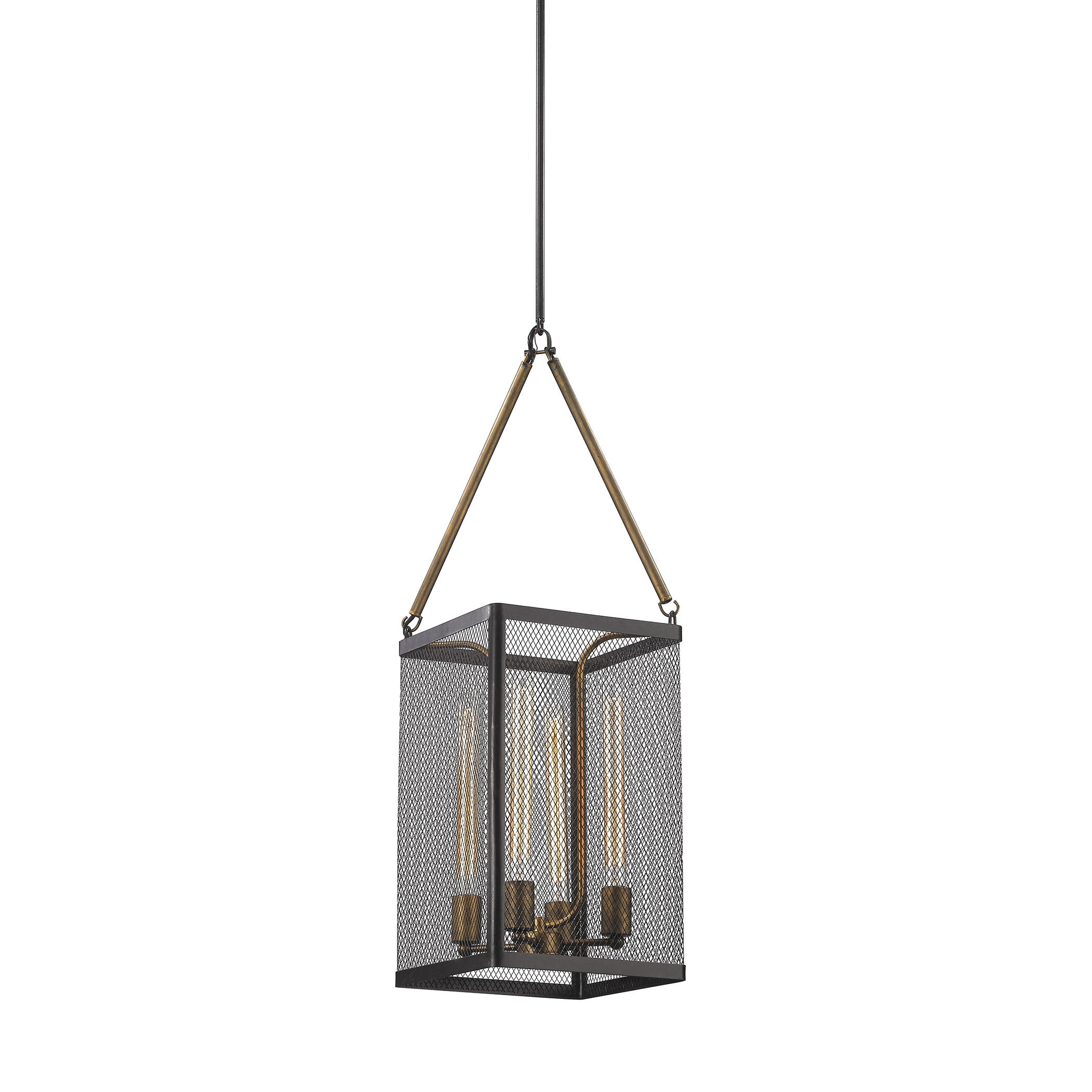 Shop Elk Donovan 4 Light Led Chandelier In Wrought Iron Black And Antique Gold On Sale Free Shipping Today Overstock 11344971