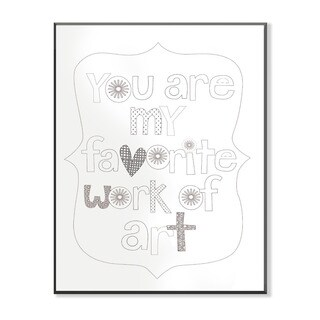 You Are My Favorite Art DIY Coloring Wall Plaque