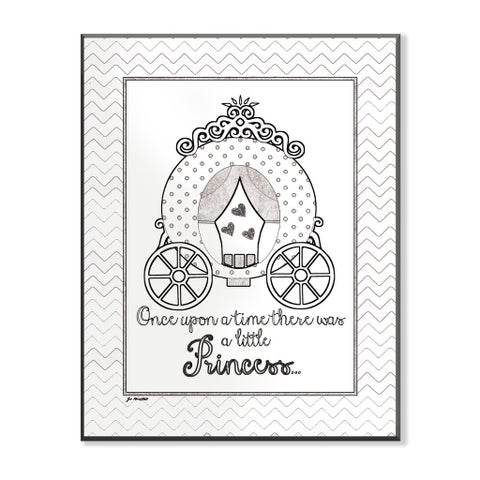 Once Upon Princess DIY Coloring Wall Plaque