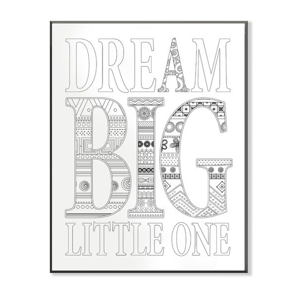 shop dream big little one diy coloring wall plaque