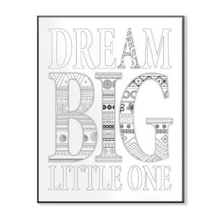 Dream Big Little One DIY Coloring Wall Plaque