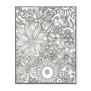 Birds with Flowers DIY Coloring Wall Plaque