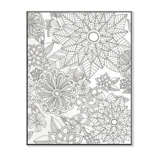 Flower Garden DIY Coloring Wall Plaque
