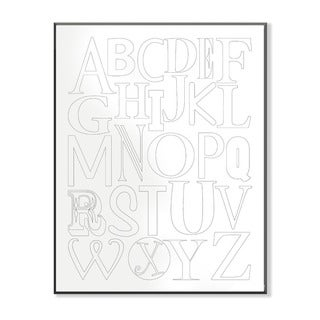 Rainbow Color Alphabet DIY Coloring Wall Plaque