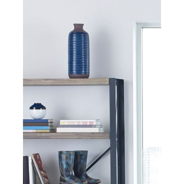 Aurelle Home Murray Tall Ceramic Navy Blue Vase