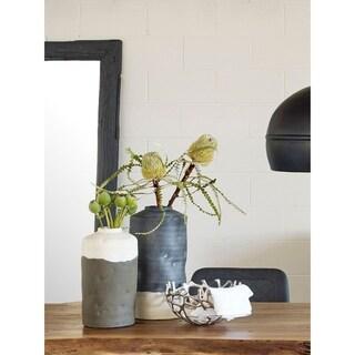 Aurelle Home Cody Rustic Ceramic Table Vase